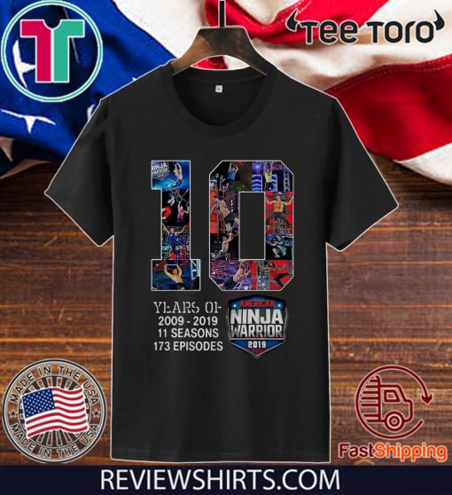 10th Years Of American Ninja Warrior 2009-2019 Classic T-Shirt