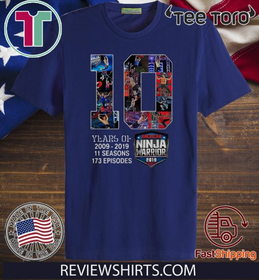 10th Years Of American Ninja Warrior 2009-2019 Classic T-Shirt