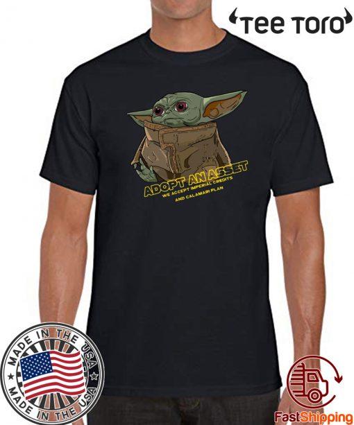 Baby Yoda Adopt An Asset Offcial T-Shirt