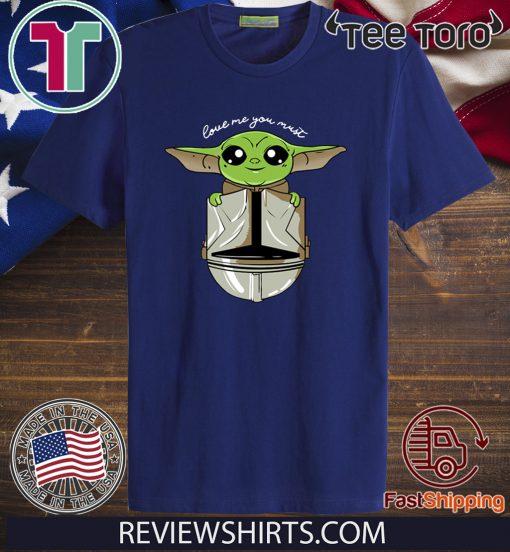 Baby Yoda Star Wars Love Baby Yoda Shirt T Shirt