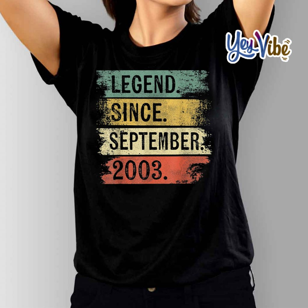 Legend Since September 2003 16th Birthday Gifts 16 Year Old T-Shirts