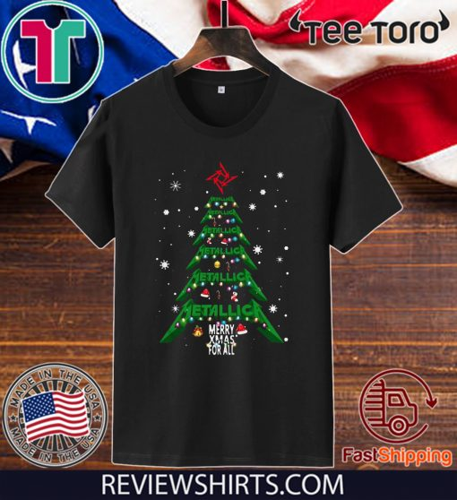 Metallica Merry Xmas for all Christmas tree shirt T-Shirt