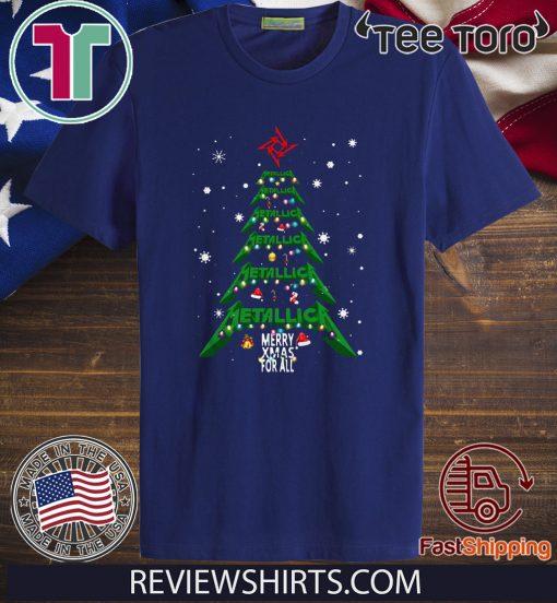 Metallica Merry Xmas for all Christmas tree shirt T-Shirt