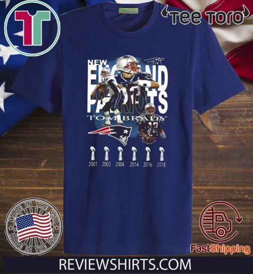 New England Patriots Tom Brady Signature Unisex T-Shirt