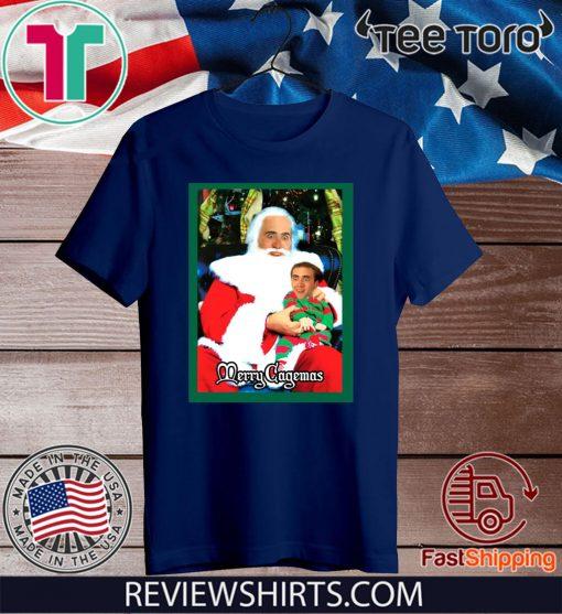 Santa Knee Nicolas Cage Merry Cagemas 2020 T-Shirt
