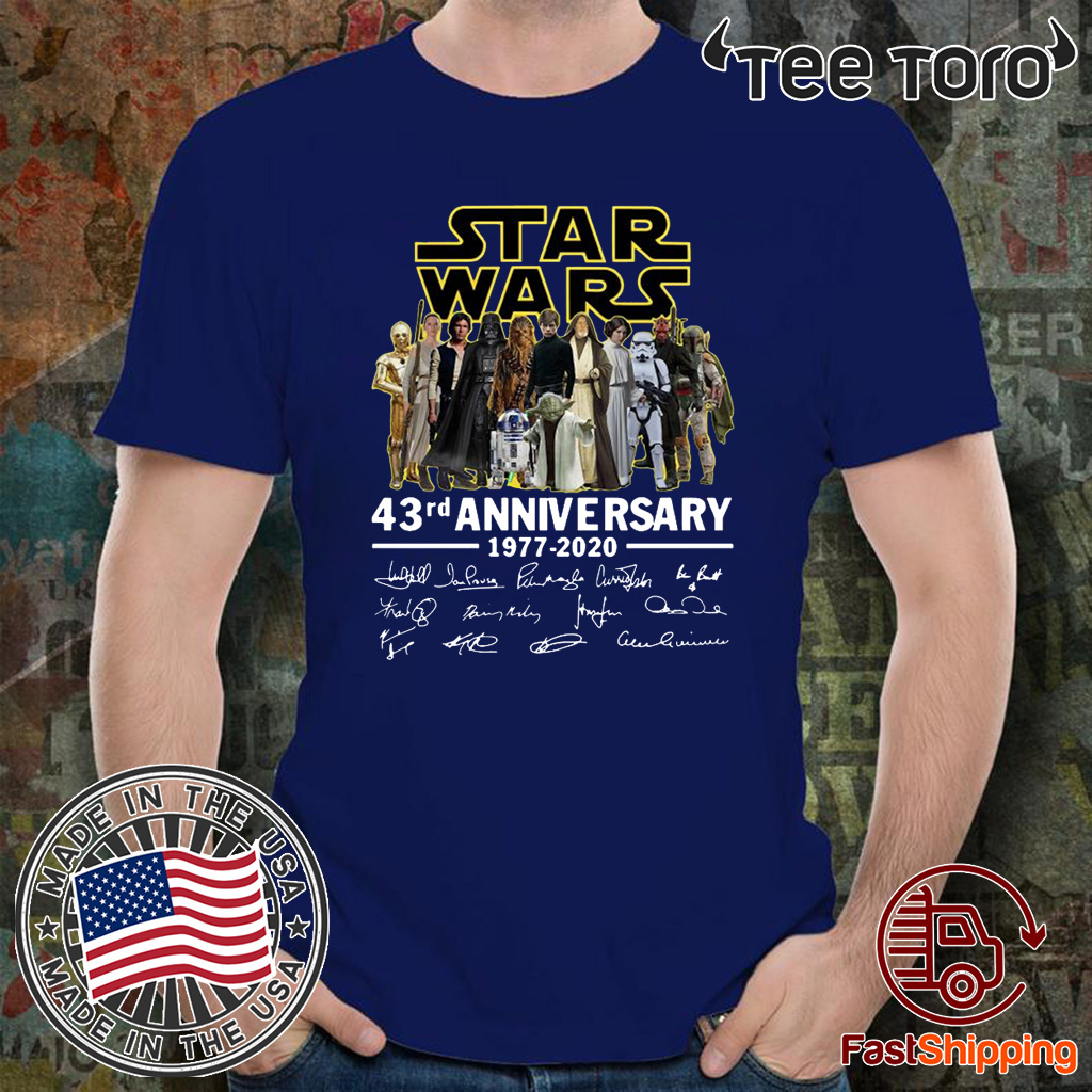 Star Wars 43rd anniversary 1977-2020 signatures Offcial T-Shirt