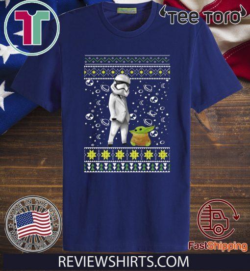 Star Wars Stormtrooper And Baby Yoda Ugly Christmas 2020 T-Shirt