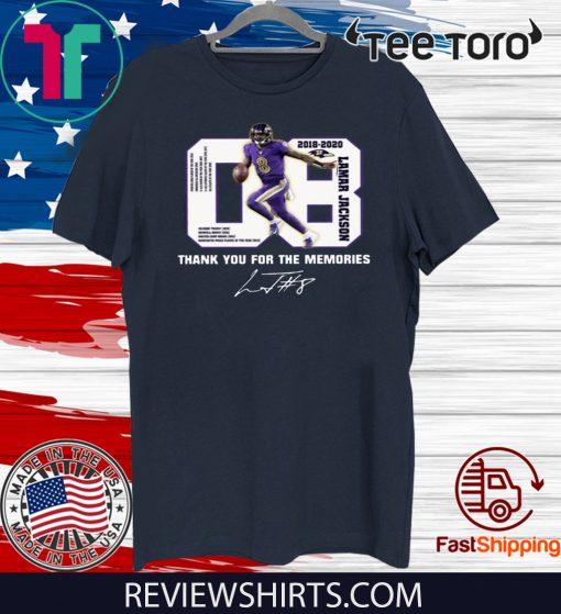 08 Lamar Jackson Thank You For The Memories Shirt T-Shirt