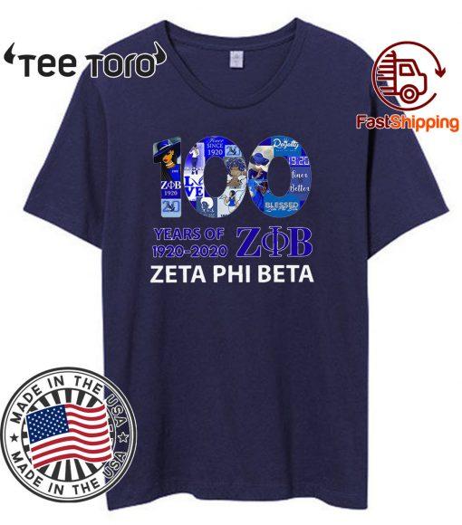 100 Years Of 1920 2020 Zeta Phi Beta Shirt100 Years Of 1920 2020 Zeta Phi Beta Shirt
