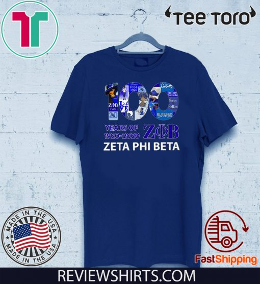 100 Years Of 1920 2020 Zeta Phi Beta Unisex T-Shirt
