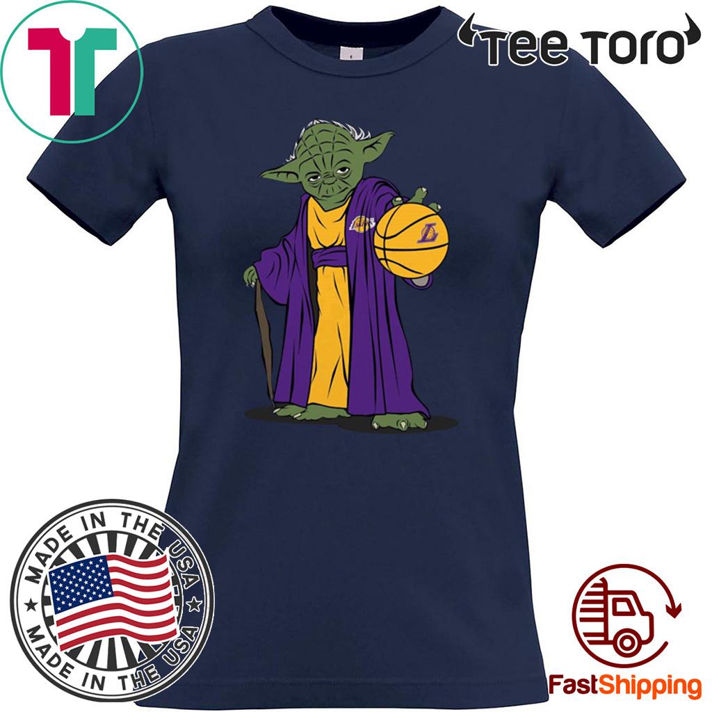 Master Yoda Los Angeles Lakers Hot T-Shirt