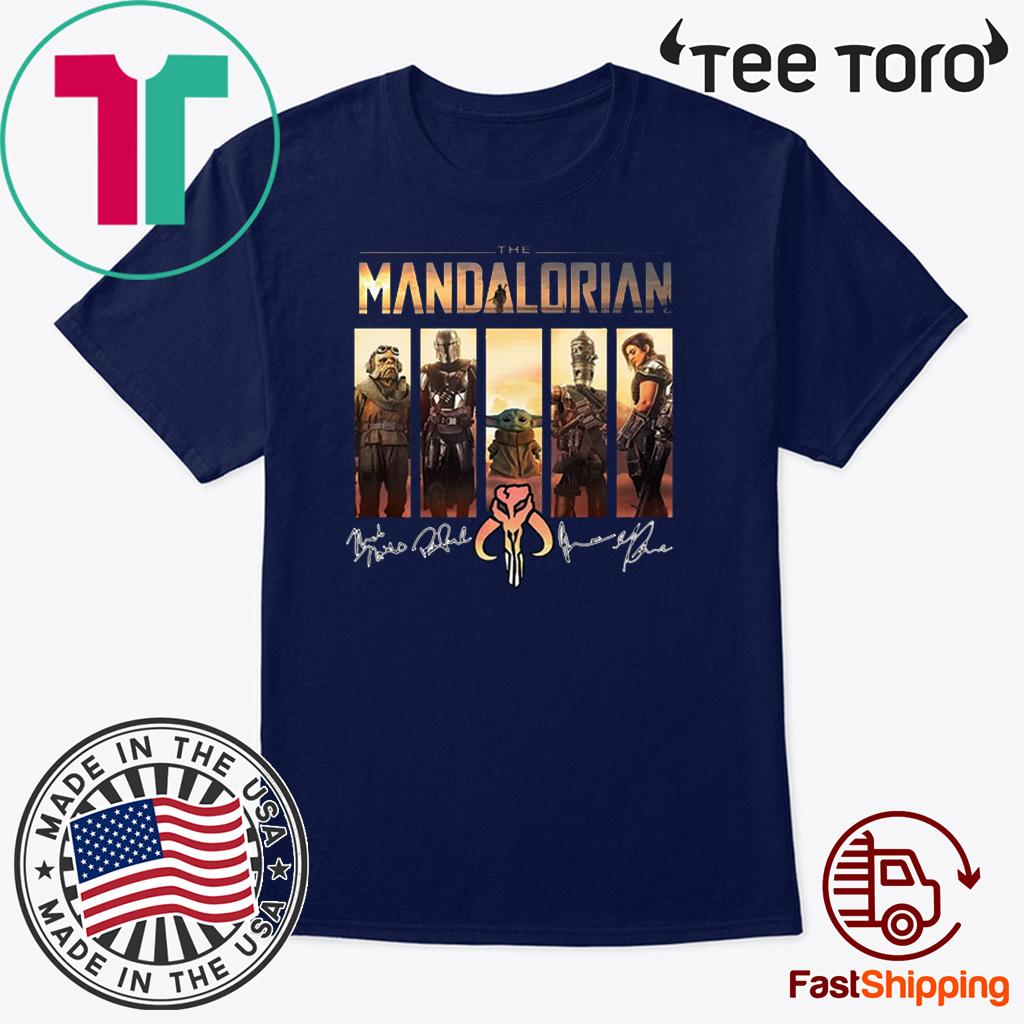 The Mandalorian Characters Signatures Shirt T-Shirt