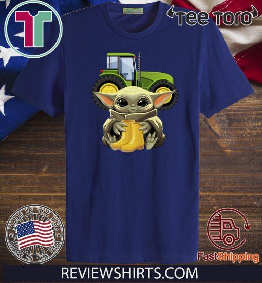 Baby Yoda Hug Farmer Gift T-Shirt