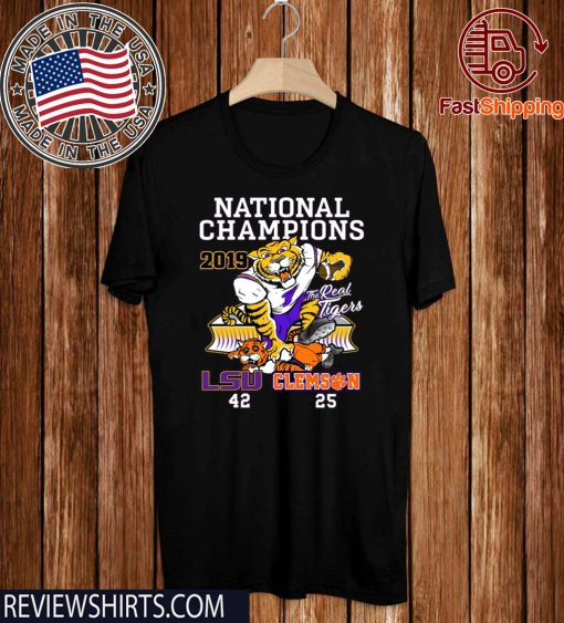 LSU Tigers College Football Playoff 2019 National Champions 2020 Tee Shirt