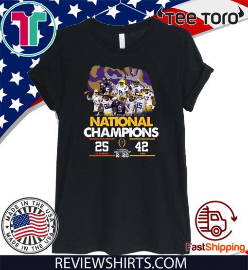 LSU National Championship 2020 Clemson 25 LSU 42 T Shirt