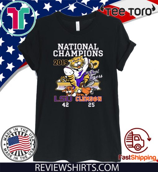 LSU Tigers College Football Playoff 2019 National Champions Hot T-Shirt