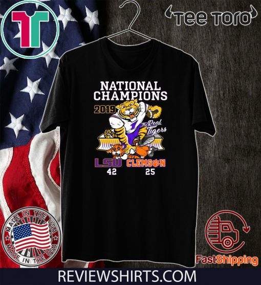 LSU Tigers College Football Playoff 2019 National Champions For T-Shirt