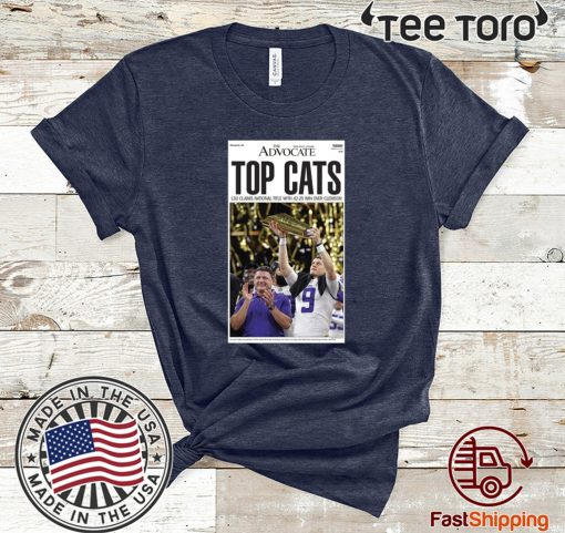 LSU vs. Clemson 2020 National Championship Top Cats T Shirt