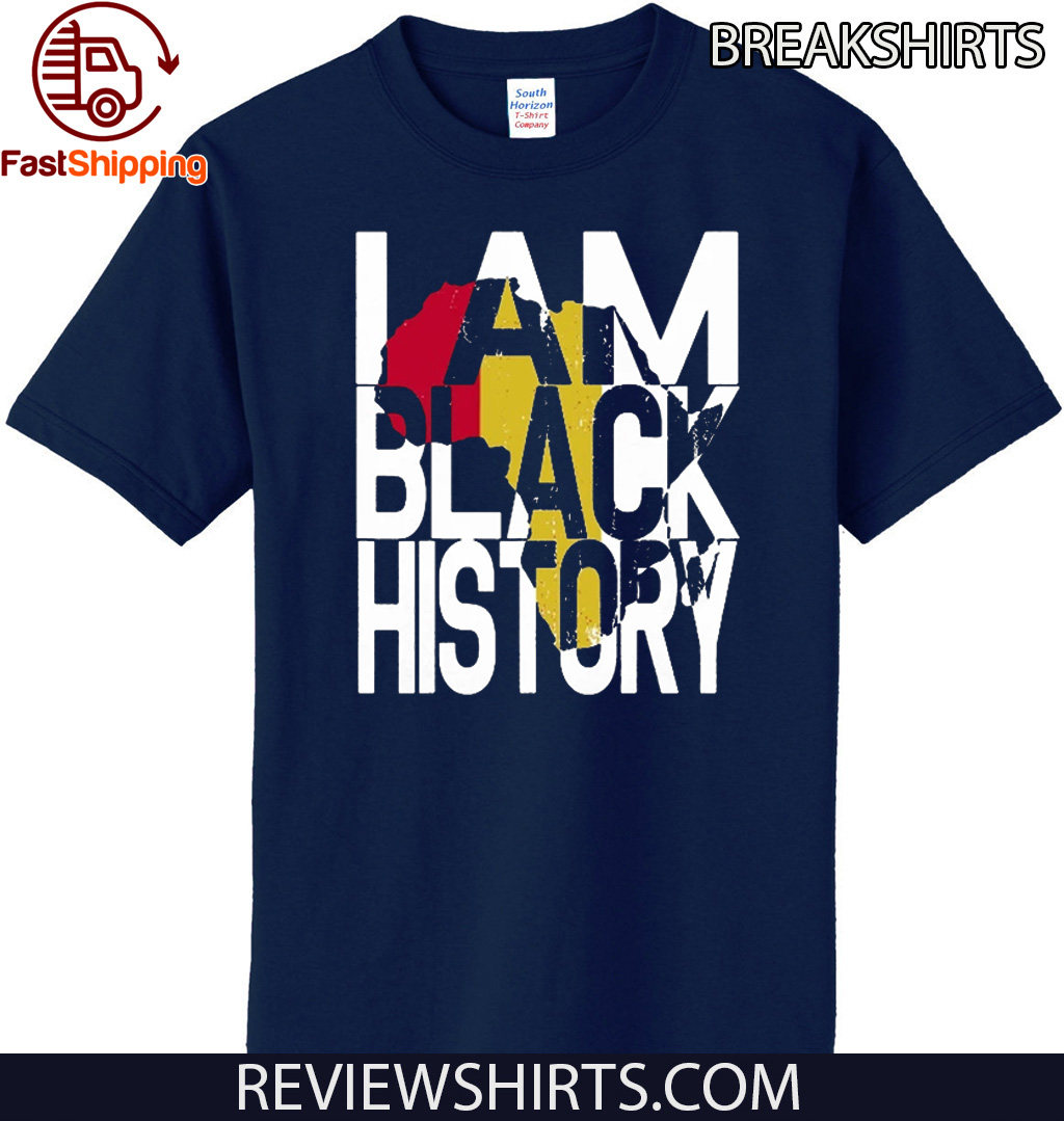 Official I Am Black History Month African American Pride T-Shirt