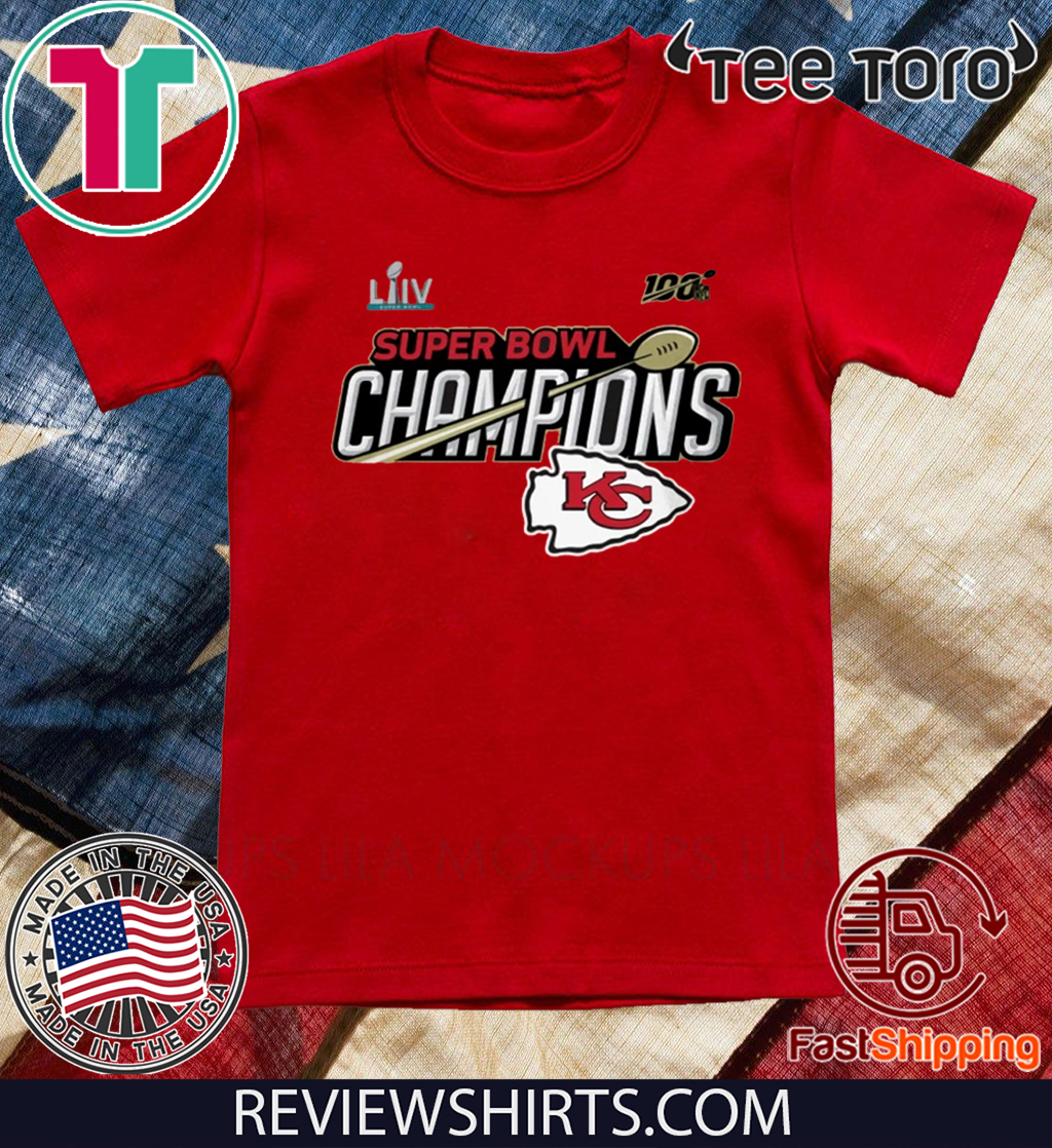 Kansas City Chiefs Super Bowl LIV Champions Trophy Tee Shirt
