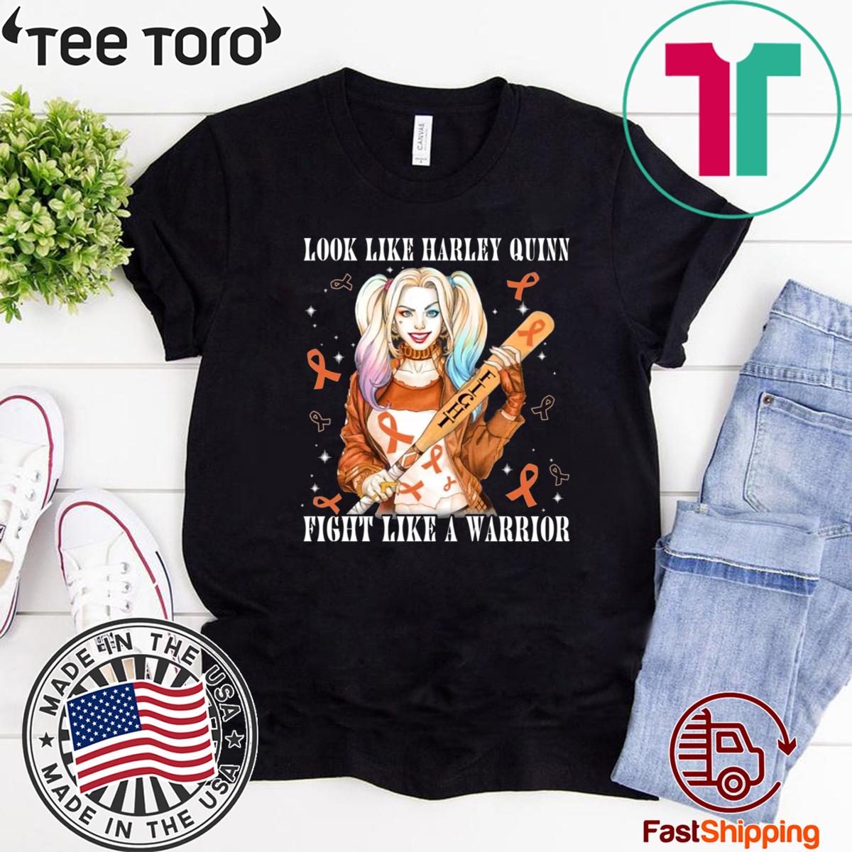 Look Like Harley Quinn Fight Like A Warrior Leukemia Awareness Classic T-Shirt