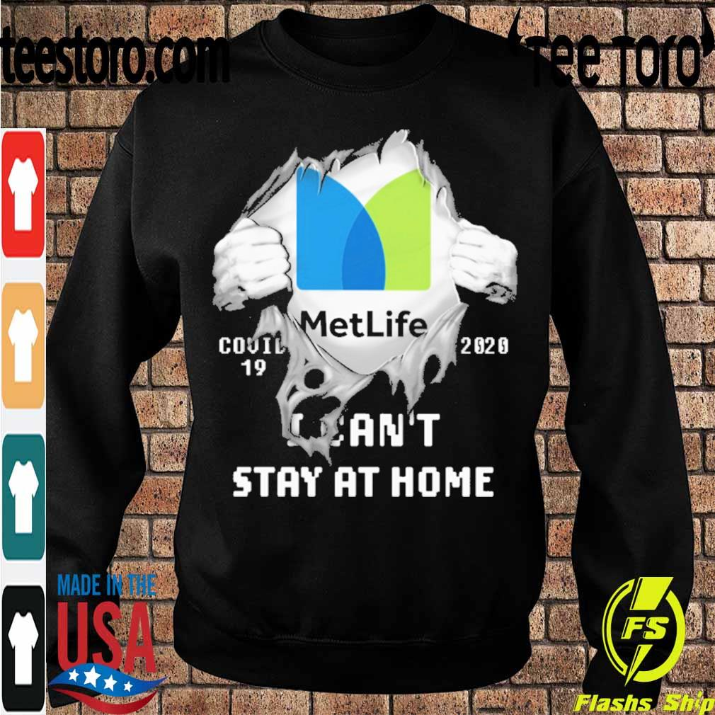 Blood inside me MetLife covid-19 2020 I can't stay at home s Sweatshirt