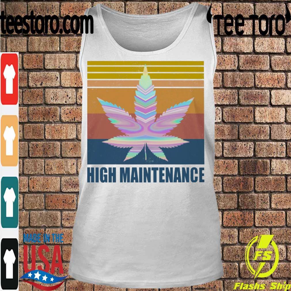 Cannabis High Maintenance vintage s Tanktop