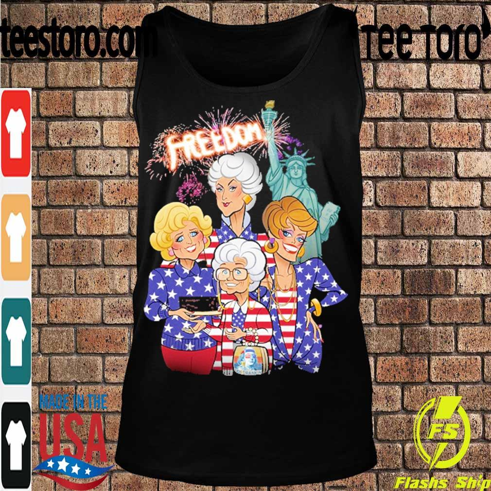 Golden girls freedom american Flag Day s Tanktop