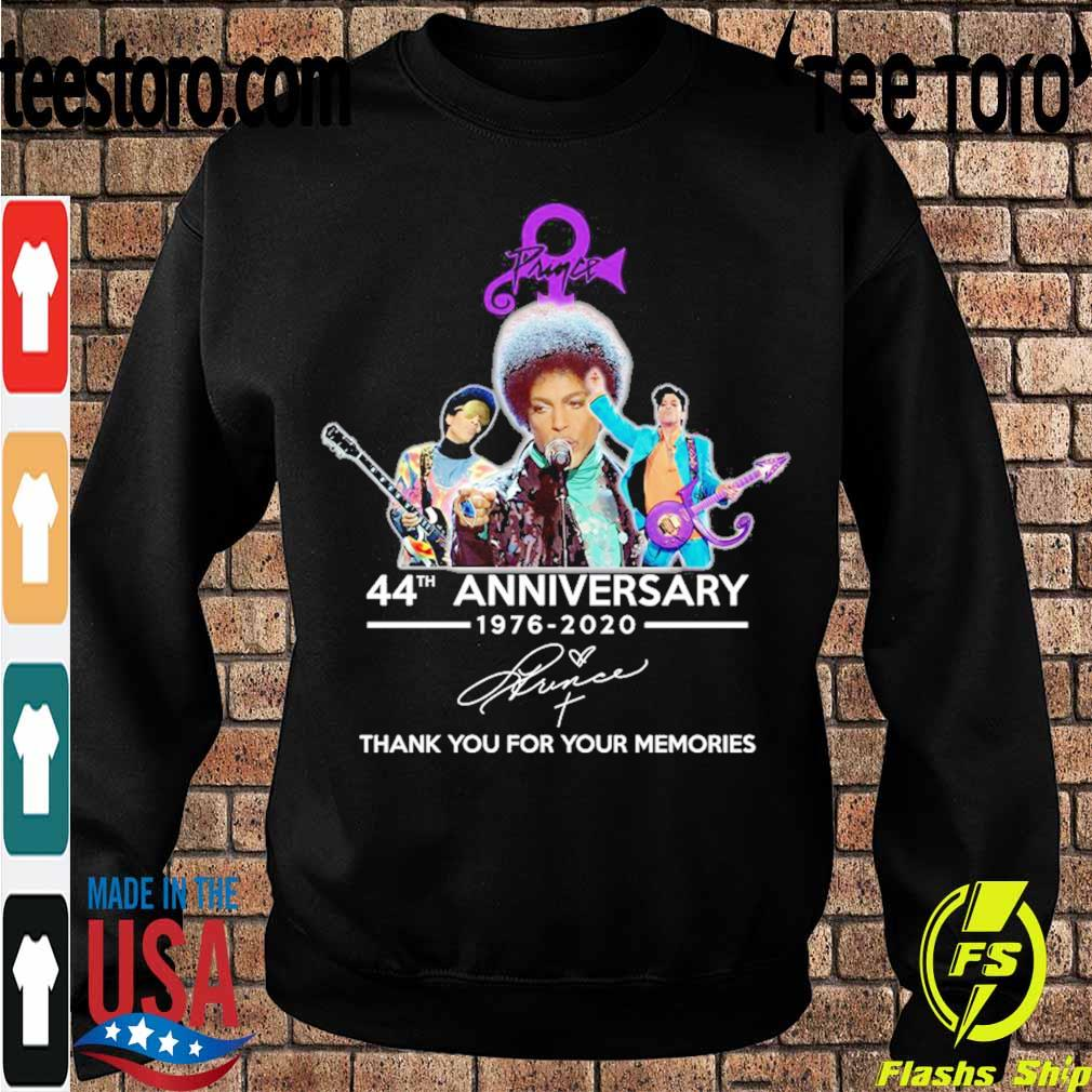 Prince 44th anniversary 1976 2020 thank you for your memories signature s Sweatshirt