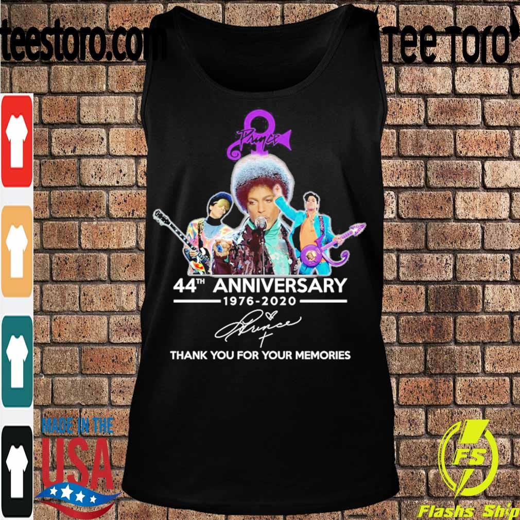 Prince 44th anniversary 1976 2020 thank you for your memories signature s Tanktop
