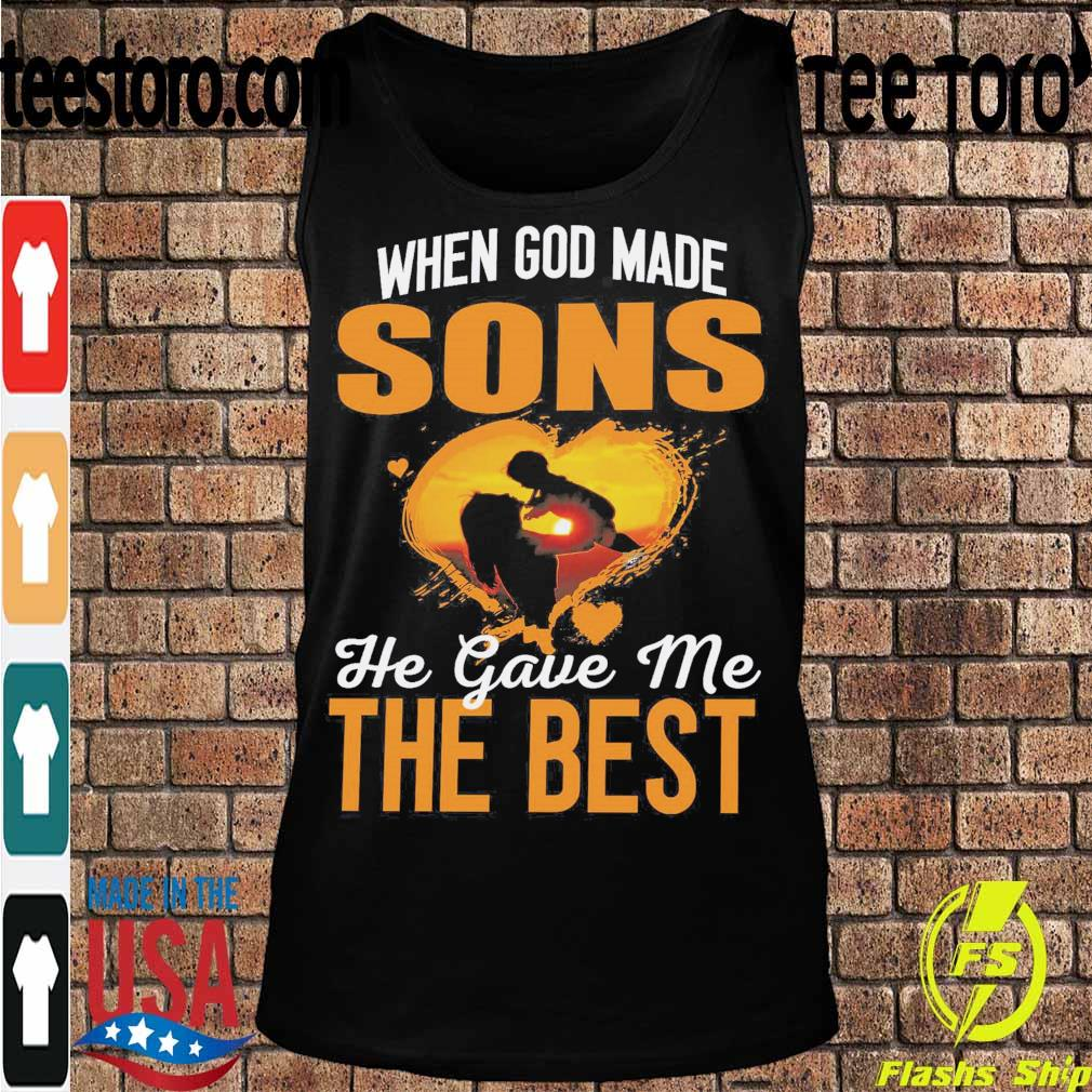 When god made Sons he gave me the best s Tanktop
