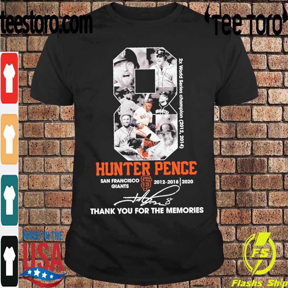8 Hunter Pence San Francisco Giants 2012 2018 2020 signature shirt