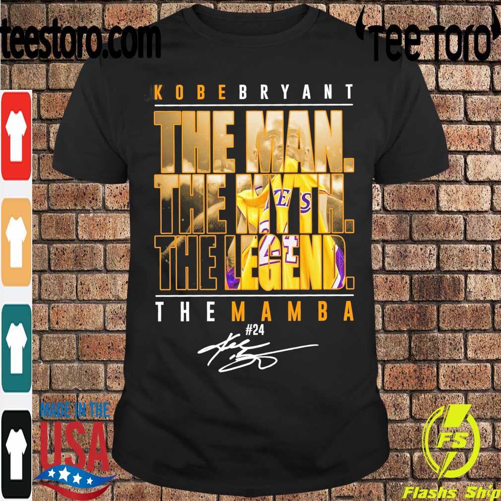 Kobe Bryant the Man the Myth the Legend the Mamba 24 signature shirt