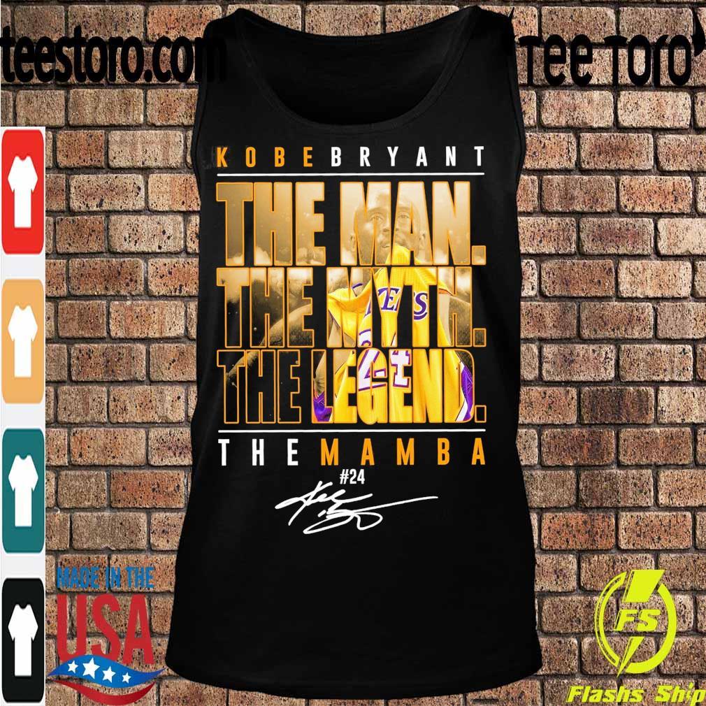Kobe Bryant the Man the Myth the Legend the Mamba 24 signature s Tanktop