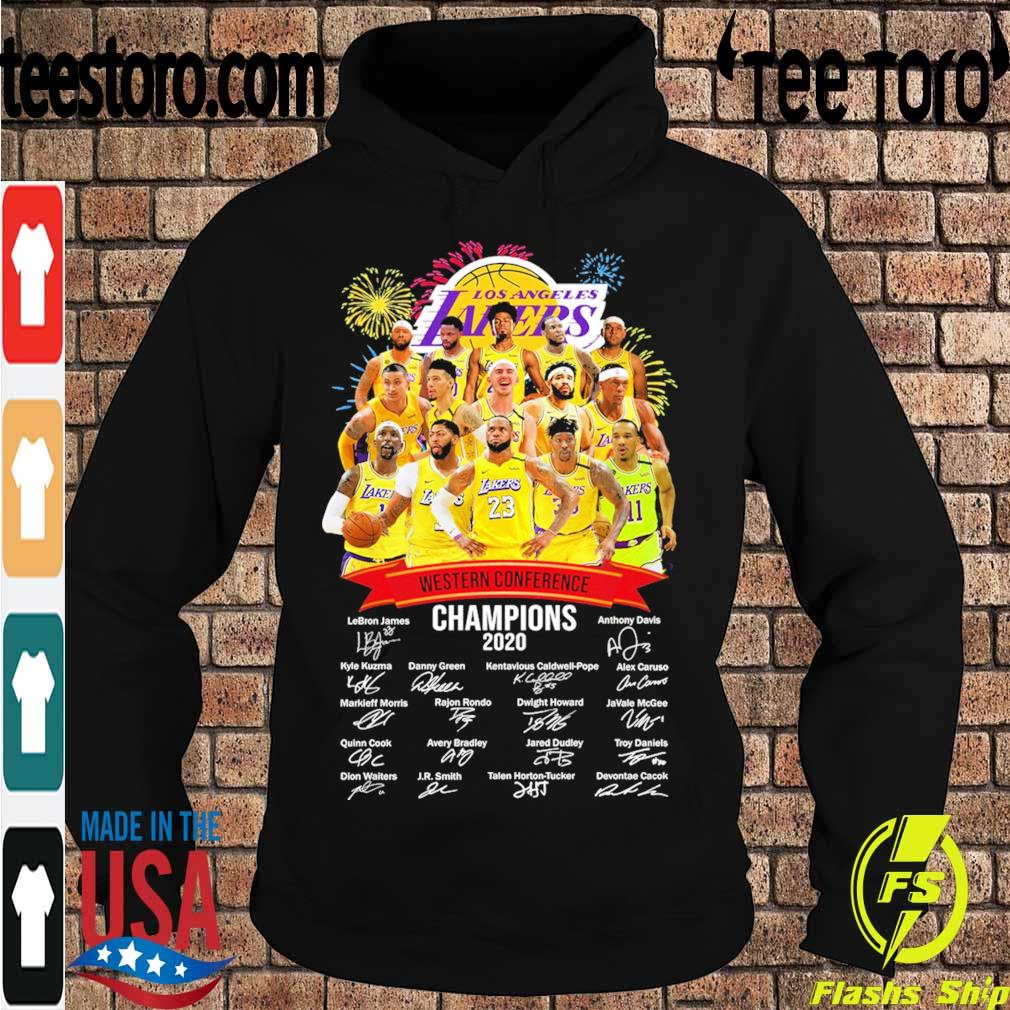Los Angeles Lakers Western Conference Champions 2020 signatures s Hoodie