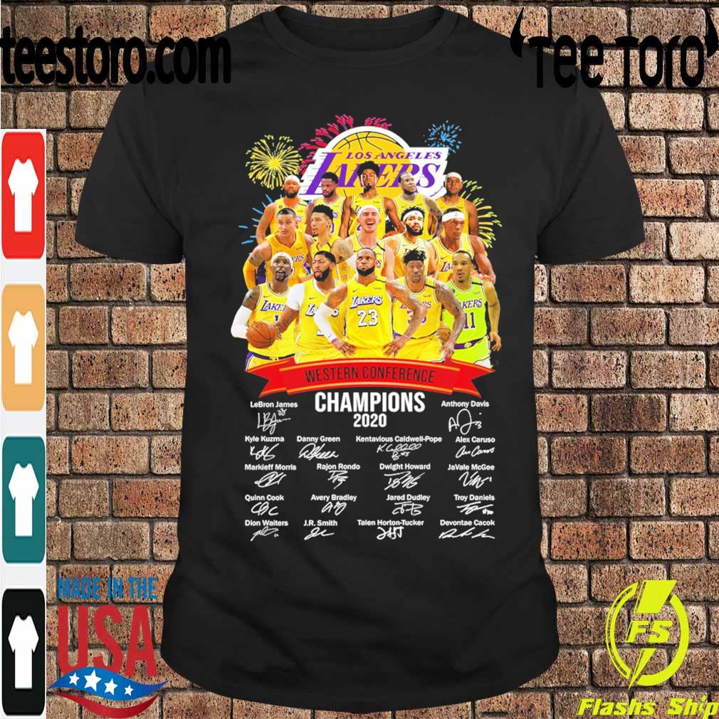 Los Angeles Lakers Western Conference Champions 2020 signatures shirt
