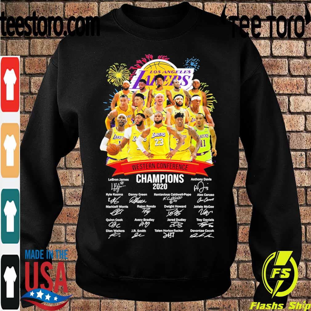 Los Angeles Lakers Western Conference Champions 2020 signatures s Sweatshirt