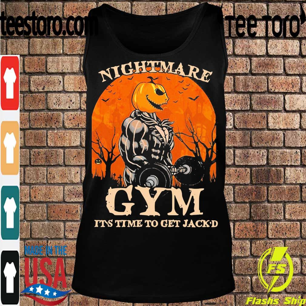 Skellington Nightmare Gym it's time to get Jack'd Halloween s Tanktop