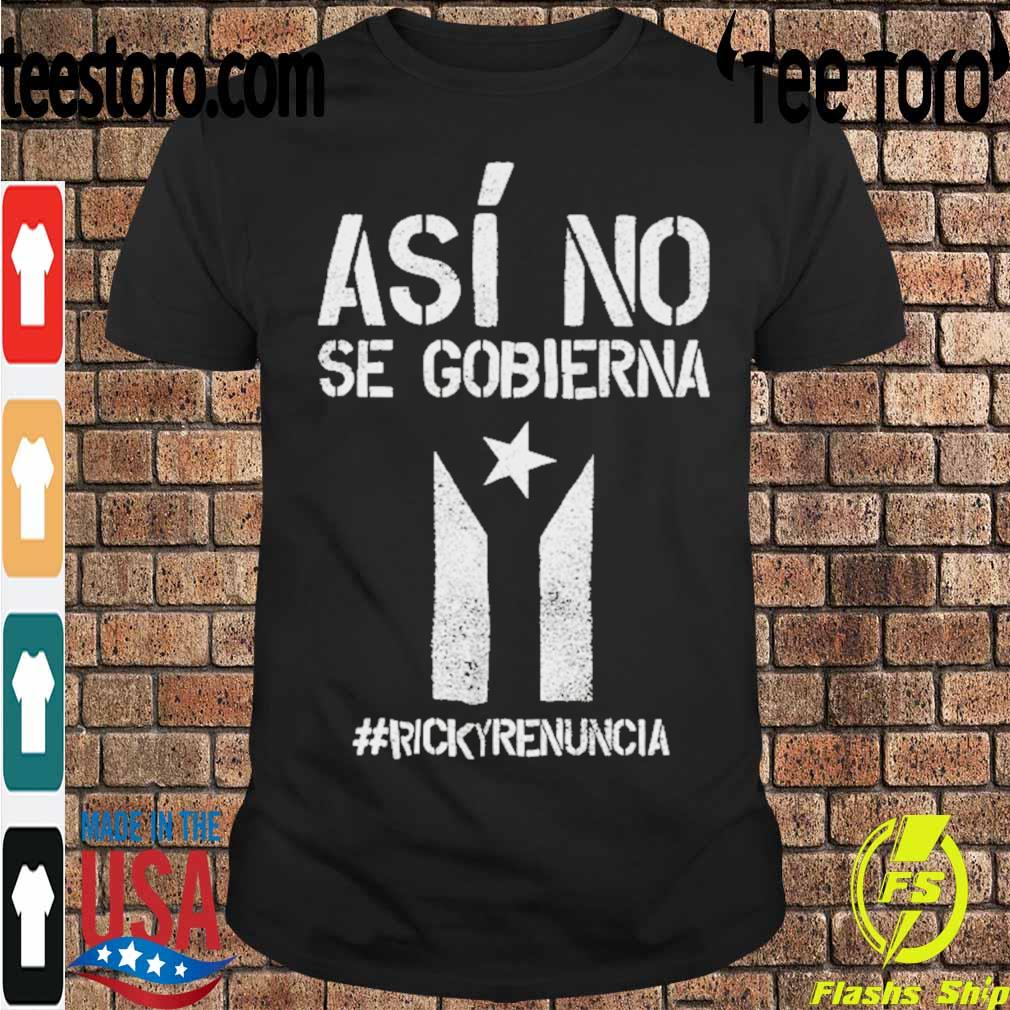 #rickyrenunciaricky Renuncia Bandera Negra Puerto Rico Flag Shirt