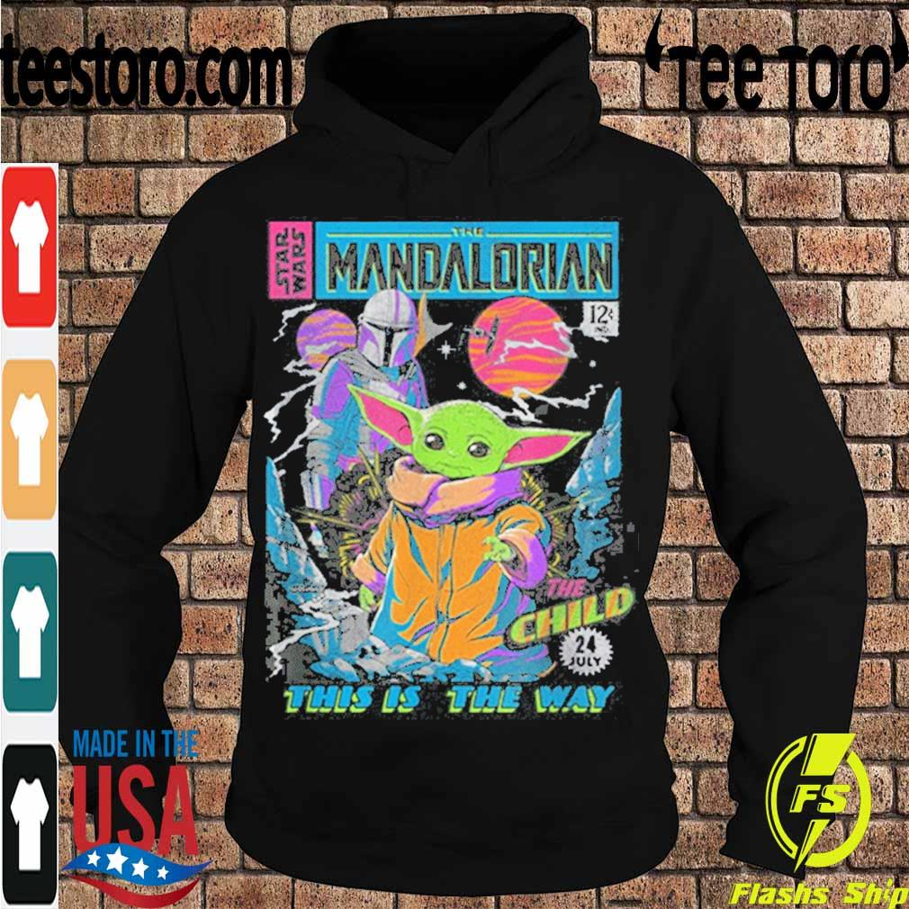Official Star Wars The Mandalorian The Child Comic Book Shirt Hoodie