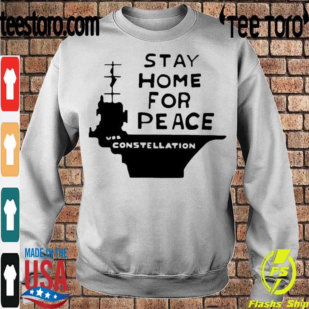 Official Stay Home For Peace Vss Constellation Shirt Sweatshirt