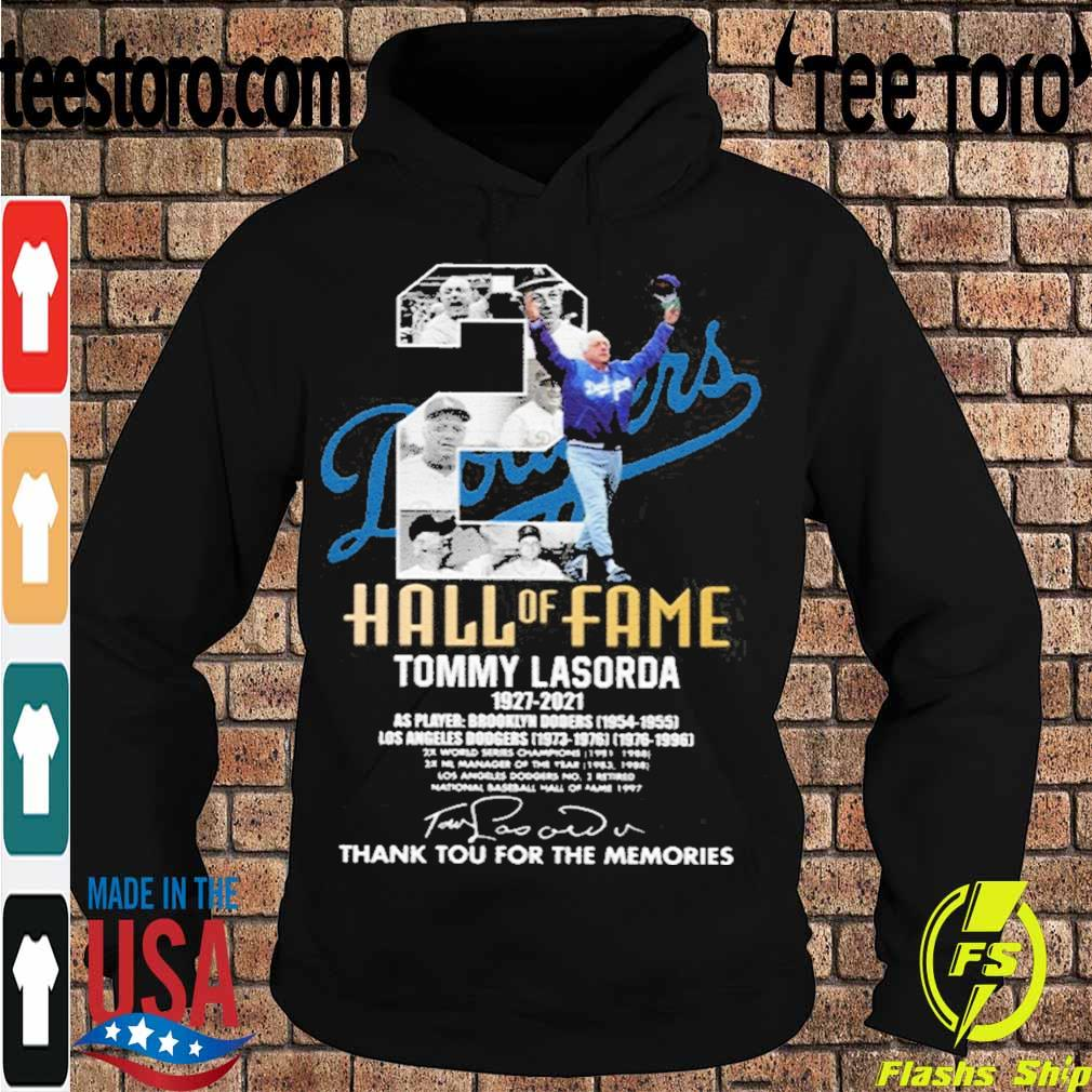 Official Tommy Lasorda 1927-2021 Thank You For The Memories Shirt Hoodie