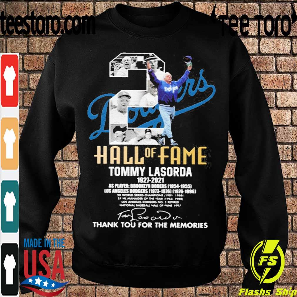 Official Tommy Lasorda 1927-2021 Thank You For The Memories Shirt Sweatshirt