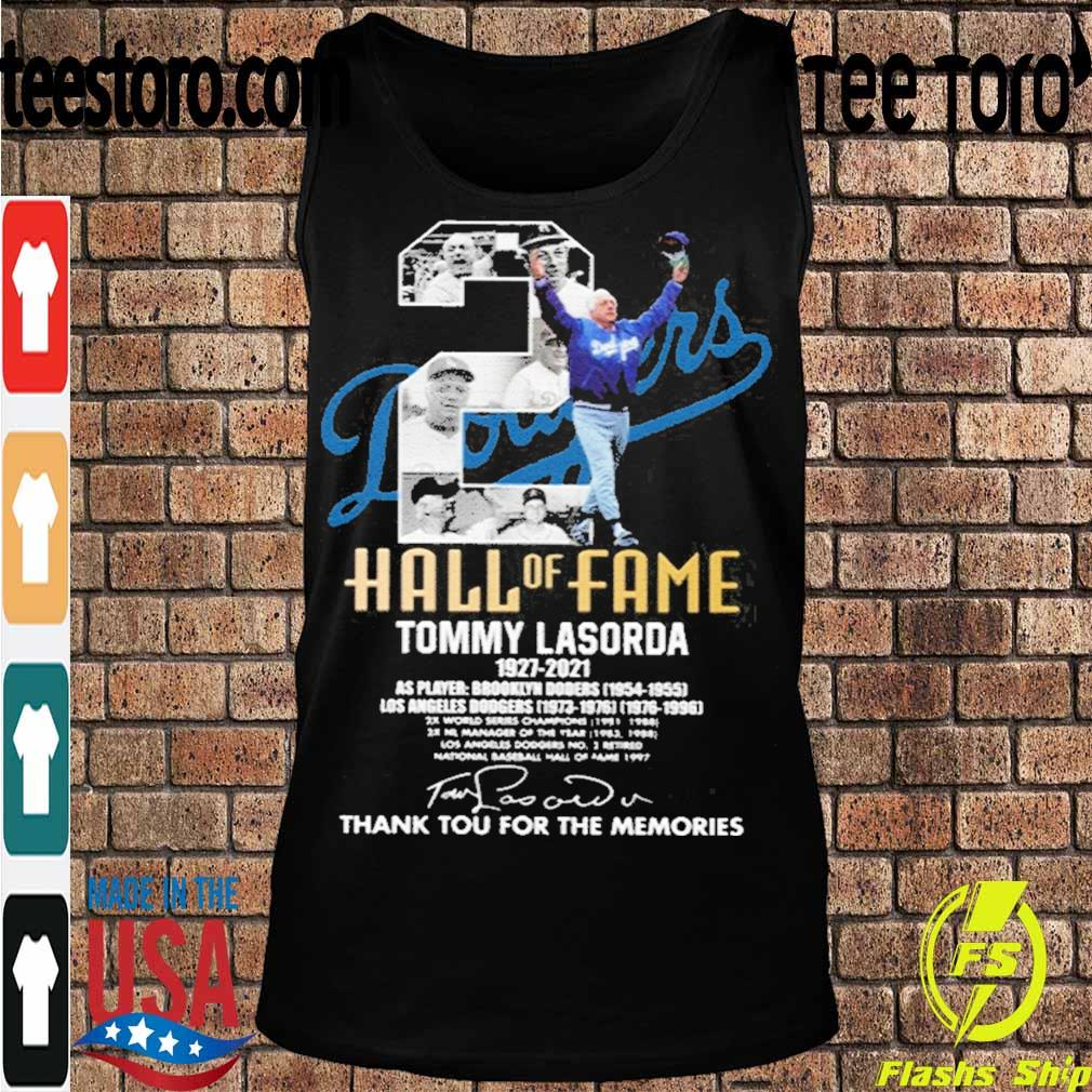 Official Tommy Lasorda 1927-2021 Thank You For The Memories Shirt Tanktop