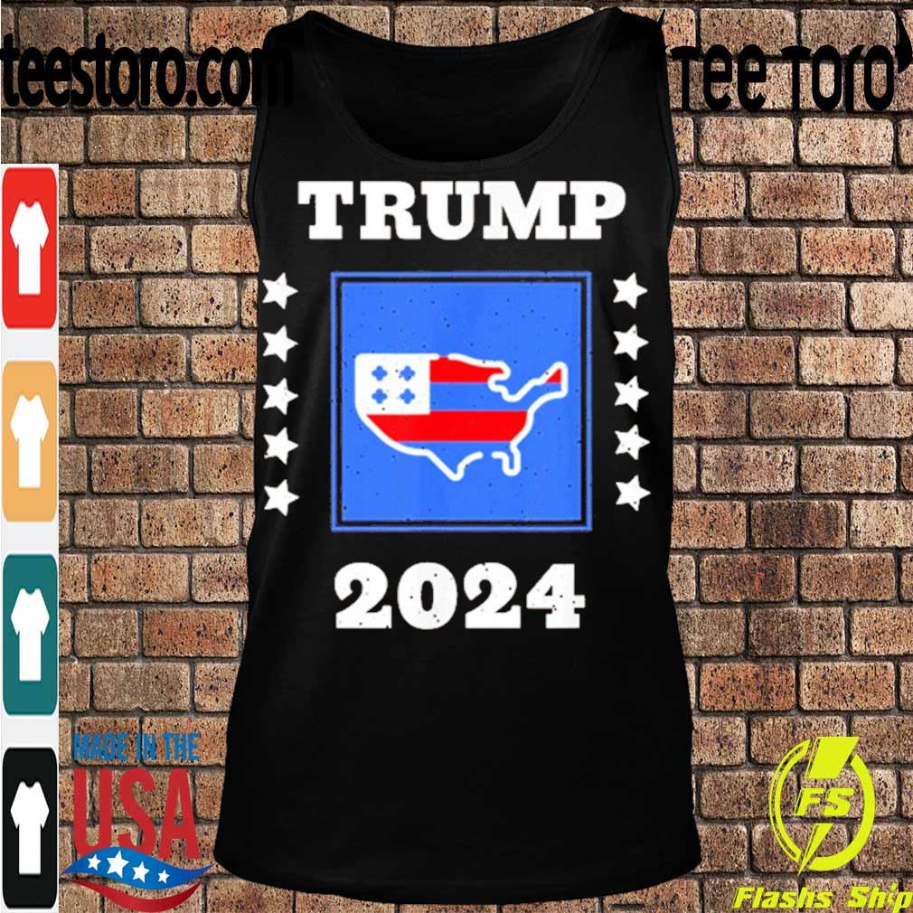 Official Trump 2024 Election Flag Keeping America Great American Flag President Shirt Tanktop