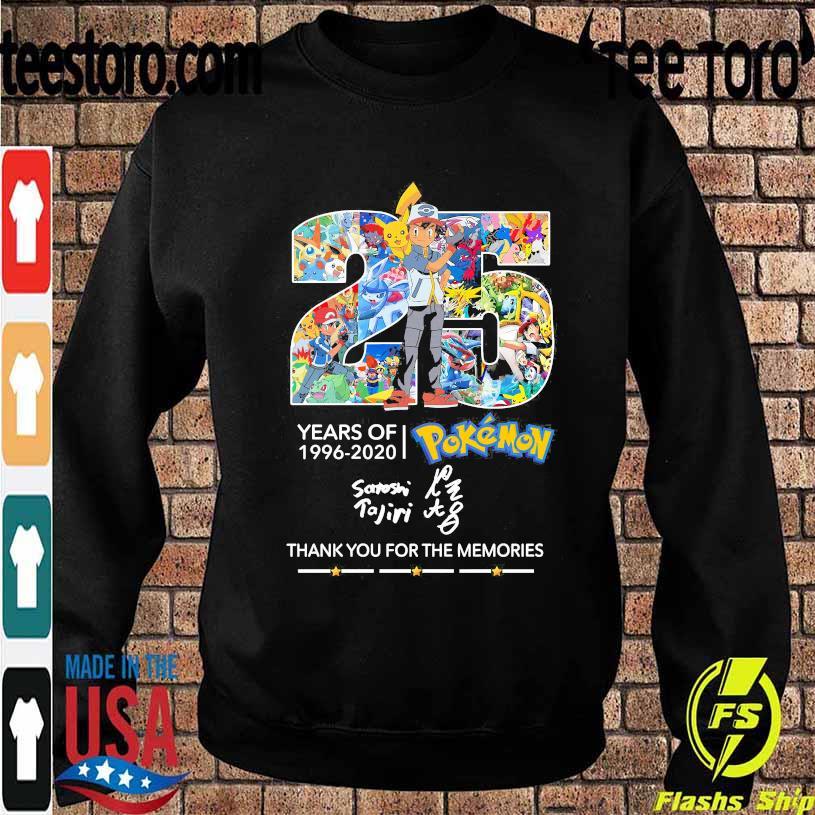 25 Years of 1996 2020 Pokemon thank You for the memories signature s Sweatshirt