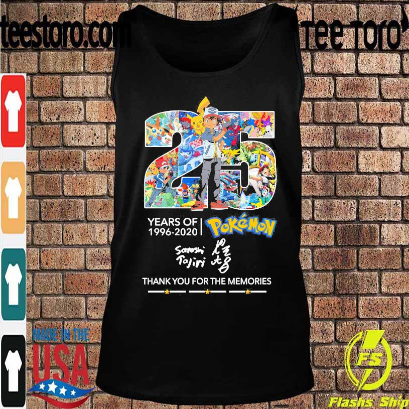 25 Years of 1996 2020 Pokemon thank You for the memories signature s Tanktop